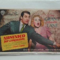 Cine: ARSÉNICO POR COMPASIÓN DIRECTOR FRANK CAPRA CON GARY GRANT Y PRISCILLA LANE. Lote 106140346