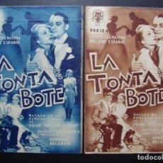 Cine: LA TONTA DEL BOTE, JOSITA HERNAN, RAFAEL DURAN, VARIANTE. Lote 106556279