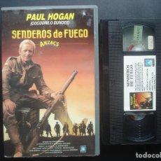 Cine: SENDEROS DE FUEGO. ANZACS. PAUL HOGAN. VHS. Lote 106557739