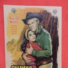 Cine: COLINAS ARDIENTES, IMPECABLE SENCILLO, TAB HUNTER NATALIE WOOD, CON PUBLI COLISEUM. Lote 106612011
