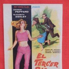 Cine: EL TERCER DIA, SENCILLO EXCTE. ESTADO, GEORGE PEPPARD E. ASHLEY, CINE BARTRINA 1966. Lote 106614711