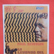 Cine: LA LEYENDA DEL INDOMABLE, IMPECABLE SENCILLO, PAUL NEWMAN, CON PUBLI VERDI,NAPOLES Y CERVANTES. Lote 106615567