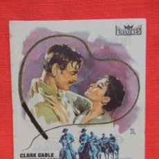 Cine: LA ESCLAVA LIBRE, IMPECABLE SENCILLO, CLARK GABLE YVONNE DE CARLO, CON PUBLI GRAN CINEMA. Lote 106616303