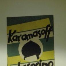 Cine: FOLLETO DE MANO KARAMASOFF EL ASESINO. Lote 106670592