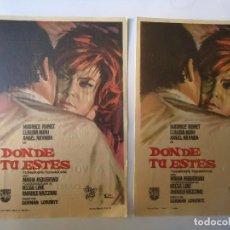 Cine: PROGRAMA. DONDE TU ESTÉS, MAURICE RONET, LOTE DE DOS PROGRAMAS, C/P. CINE PARÍS.1965.. Lote 106670803