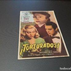 Cine: PROGRAMA DE MANO ORIGIN - TORTURADOS - SIN PUBLICIDAD CINE . Lote 106803995