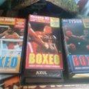 Cine: 3 VHS GRANDES DEL BOXEO. Lote 106901499