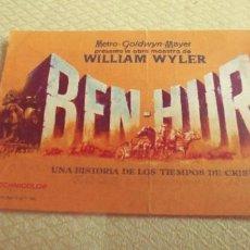 Cine: PROGAMA DE CINE BEN-HUR TEATRO OLYMPIA DE LINARES MIREN FOTOS . Lote 107027131
