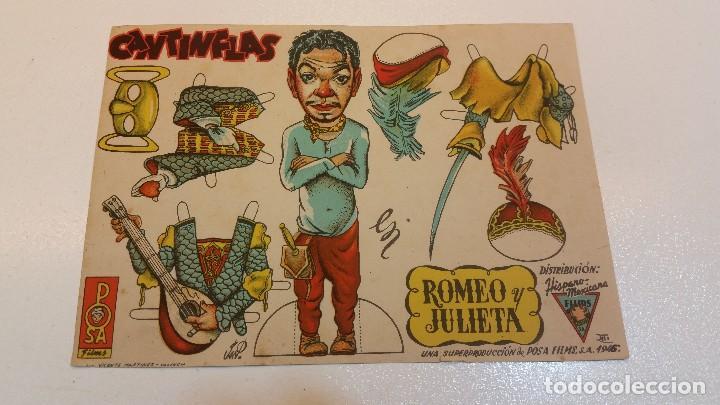 ROMEO Y JULIETA, CANTINFLAS, POSA FIMS, RECORTABLE. MUY RARO. ORIGINAL. (Cine - Folletos de Mano - Comedia)