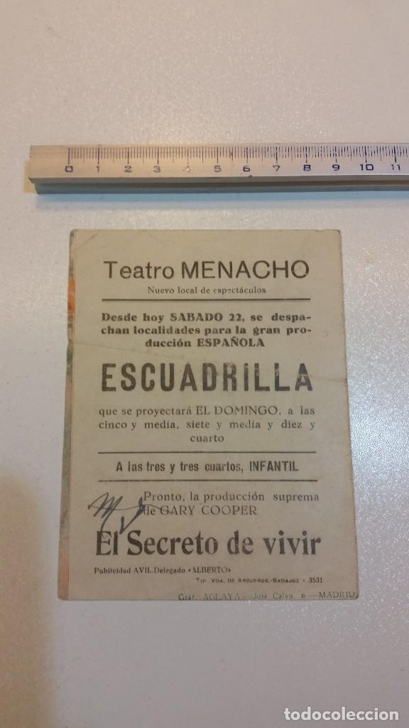 Cine: Escuadrilla, Teatro Menacho, Hércules Film. Luchy Soto... - Foto 2 - 107098487