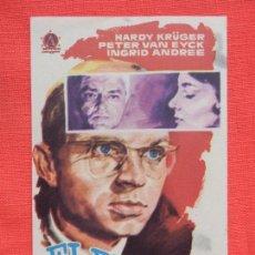 Cine: EL RESTO ES SILENCIO, IMPECABLE SENCILLO ORIGINAL, HARDY KRÜGER, SIN PUBLICIDAD. Lote 107259835
