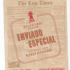 Cine: ENVIADO ESPECIAL - DOBLE - CON PUBLICIDAD. Lote 107361967
