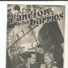 Cine: LA CANCIÓN DE LOS BARRIOS - DOBLE - CON PUBLICIDAD. Lote 107362123