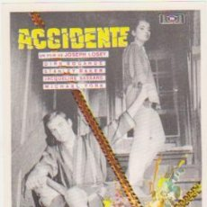 Cine: ACCIDENTE. SENCILLO DE MUNDIAL FILMS. ¡IMPECABLE!. Lote 107373355