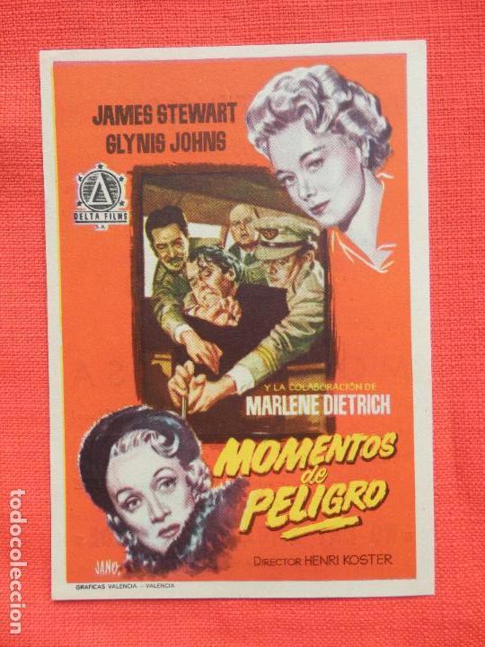 MOMENTOS DE PELIGRO, IMPECABLE SENCILLO, MARLENE DIETRICH JAMES STEWART, C/PUBLI MONTERROSA (Cine - Folletos de Mano - Suspense)