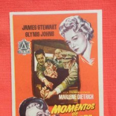 Cine: MOMENTOS DE PELIGRO, IMPECABLE SENCILLO, MARLENE DIETRICH JAMES STEWART, C/PUBLI MONTERROSA. Lote 107518439