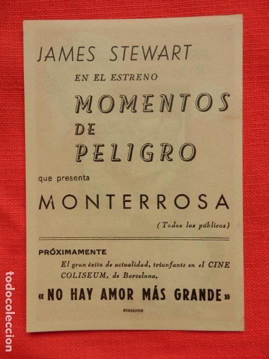 Cine: momentos de peligro, impecable sencillo, marlene dietrich james stewart, c/publi monterrosa - Foto 2 - 107518439