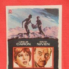 Cine: AL FINAL DE LA NOCHE, IMPECABLE SENCILLO, LESLIE CARON DAVID NIVEN, C/PUBLI RUBI CINEMA. Lote 107521947