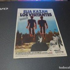 Cine: PROGRAMA DE MANO ORIGIN - LOS VISITANTES - ( SIN PUBLIC DE CINE ). Lote 107535415