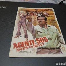 Cine: PROGRAMA DE MANO ORIGIN - AGENTE 505- ( SIN PUBLIC DE CINE ). Lote 107555955