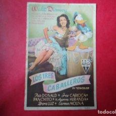 Cine: PROGRAMA. WALT DISNEY, LOS TRES CABALLEROS, S/P.. Lote 107754687