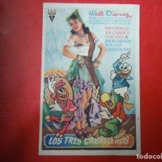 Cine: PROGRAMA. WALT DISNEY, LOS TRES CABALLEROS, S/P.. Lote 107754863