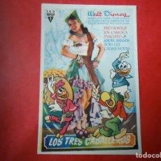 Cine: PROGRAMA. WALT DISNEY, LOS TRES CABALLEROS, S/P.. Lote 107754919