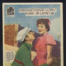 Folhetos de mão de filmes antigos de cinema: P-7291- EL SISTEMA PELEGRIN (FERNANDO FERNÁN GÓMEZ - ISABEL DE CASTRO - SERGIO ORTA). Lote 107796559