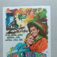 Cine: OKLAHOMA CINEMASCOPE CINE TEATRO APOLO CINEMA VALLS LABIOS SELLADOS NO-DO NTRA SRA CANDELA 1961. Lote 107824755