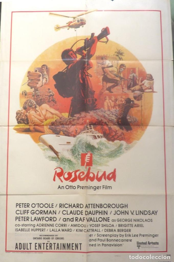 ROSEBUD MOVIE POSTER ( AN OTTO PREMINGER FILM ) STYLE C/ONE SHEET/1974? (Cine - Folletos de Mano - Bélicas)