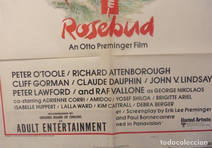 Cine: Rosebud movie poster ( An otto preminger film ) Style C/One sheet/1974? - Foto 3 - 107854587