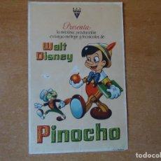 Cine: PROGRAMA. WALT DISNEY, PINOCHO. LA ORIGINAL, S/P.. Lote 108027599