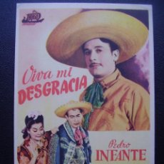Flyers Publicitaires de films Anciens: VIVA MI DESGRACIA, PEDRO INFANTE. Lote 108368895
