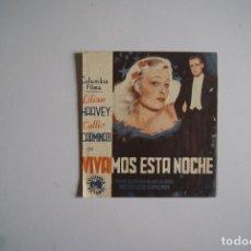 Cine: FOLLETO DE MANO VIVAMOS ESTA NOCHE DOBLE CON CINE BUEN ESTADO B2. Lote 108704355