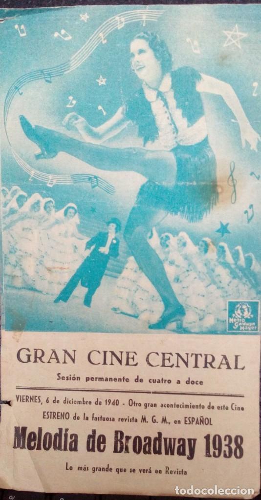 FOLLETO SENCILLO MELODÍA DE BROADWAY 1938 (Cine - Folletos de Mano - Musicales)