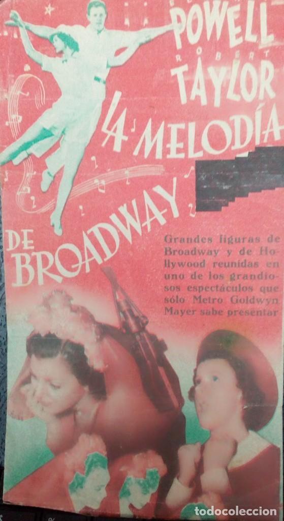 Cine: FOLLETO SENCILLO MELODÍA DE BROADWAY 1938 - Foto 2 - 108706815