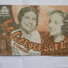 Cine: LA MARQUESONA AÑOS 30 CON CINE B32. Lote 108718659