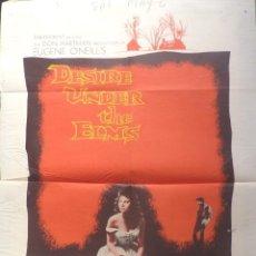 Cine: DESIRE UNDER THE ELMS MOVIE POSTER,1958,ONE SHEET,VISTA VISION. Lote 108759187