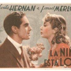 Cine: LA NIÑA ESTÁ LOCA - JOSITA HERNÁN, ISMAEL MERLO - FALCÓFILMS. Lote 108778843