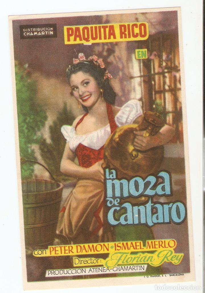LA MOZA DE CANTARO - PAQUITA RICO, PETER DAMON, ISMAEL MERLO - DIRECTOR FLORIÁN REY - CHAMARTÍN (Cine - Folletos de Mano - Clásico Español)