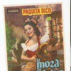 Cine: LA MOZA DE CANTARO - PAQUITA RICO, PETER DAMON, ISMAEL MERLO - DIRECTOR FLORIÁN REY - CHAMARTÍN. Lote 108779035