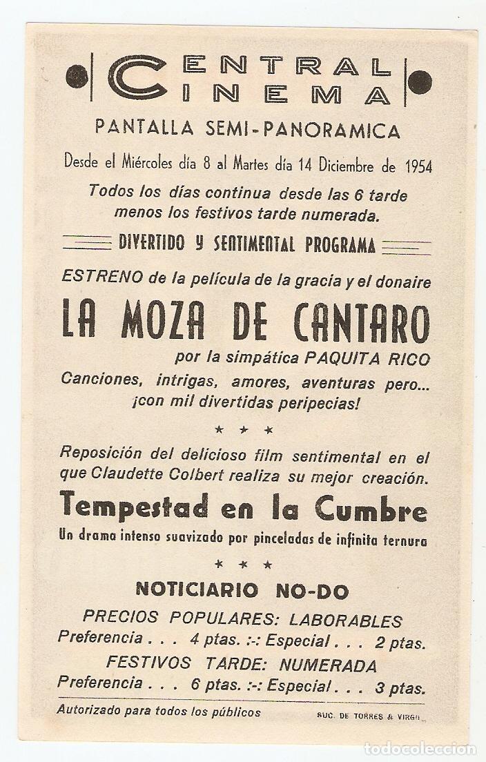 Cine: LA MOZA DE CANTARO - PAQUITA RICO, PETER DAMON, ISMAEL MERLO - DIRECTOR FLORIÁN REY - CHAMARTÍN - Foto 2 - 108779035