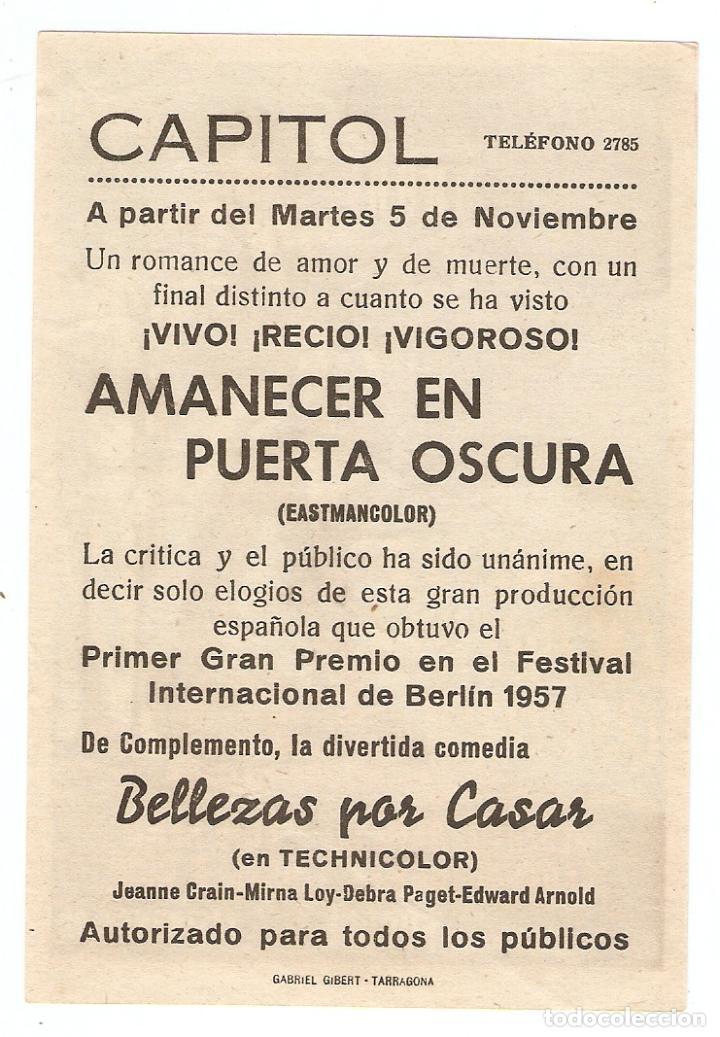 Cine: AMANECER EN PUERTA OSCURA - FRANCISCO RABAL, ALBERTO FARNESSE - DIRECTOR JOSÉ MARÍA FORQUÉ - Foto 2 - 108779795