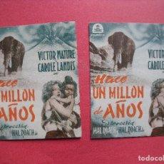 Cine: HACE UN MILLON DE AÑOS.-CIFESA.-PROGRAMAS DE MANO DIFERENTES.-CINE.-RAMBLAS.-TEATRO.-BARTRINA.-1945.. Lote 108824315