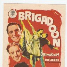 Folhetos de mão de filmes antigos de cinema: BRIGADOON - GENE KELLY, VAN JOHNSON, CYD CHARISSE - DIRECTOR VINCENT MINNELLI - JANO. Lote 108858119