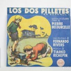 Cine: PROGRAMA DE CINE DOBLE - LOS DOS PILLETES - CON PUBLICIDAD - HUET, AÑO 1940. Lote 109011894