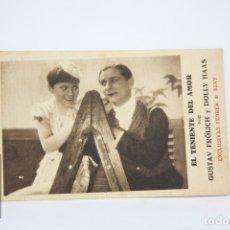 Cine: PROGRAMA DE CINE / TARJETA FOTOGRAMA- EL TENIENTE DEL AMOR - CON PUBLICIDAD -FEBRER & BLAY, AÑO 1933. Lote 109012622