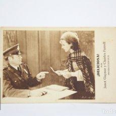 Cine: PROGRAMA DE CINE / TARJETA FOTOGRAMA - ¡ DELICIOSA ! / JANET GAYNOR - CON PUBLICIDAD - FOX, AÑO 1932. Lote 109012712