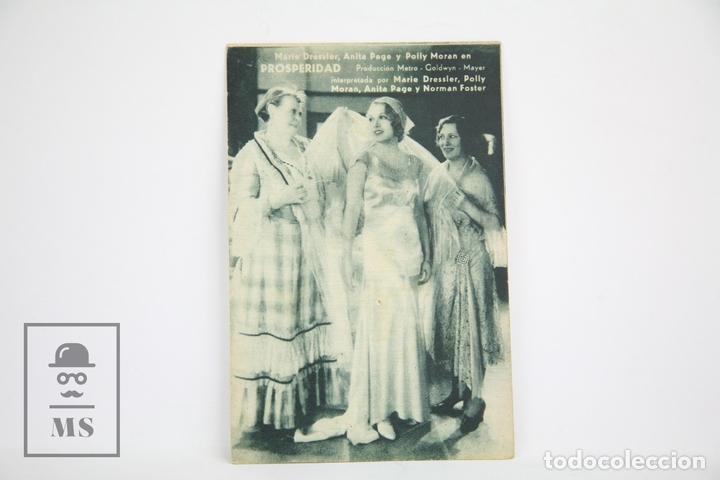 PROGRAMA DE CINE / TARJETA FOTOGRAMA - PROSPERIDAD - SIN PUBLICIDAD - METRO GOLDWYN, AÑOS 30 (Cine - Folletos de Mano - Drama)