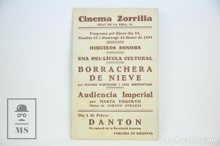 Cine: Programa de Cine / Tarjeta Fotograma - Audiencia Imperial - Con Publicidad - Ferrer & Blay, Año 1934 - Foto 2 - 109012892